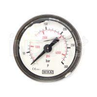 Pressure gauge for professional pressure washers - 40 mm glycerine bath